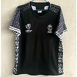 Maillot de rugby 2019 Japan World Cup Fidji Team Training Football Sweat-shirt à manches courtes pour étudiants, enfants et adultes -  - Medium