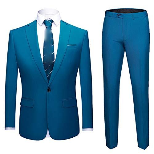 Goods-Store-uk Wedding Suit Set 2 Stks Slim Fit Suits voor Heren Kostuum Business Formele Partij