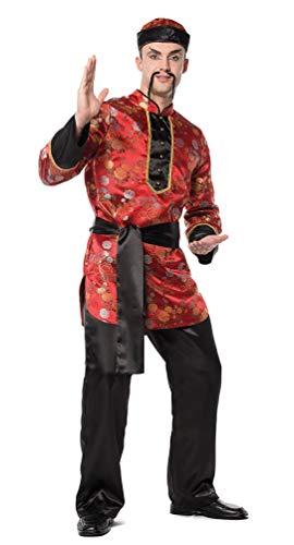 Karneval-Klamotten Chinesen Kostüm Herren rot schwarz China Kostüm