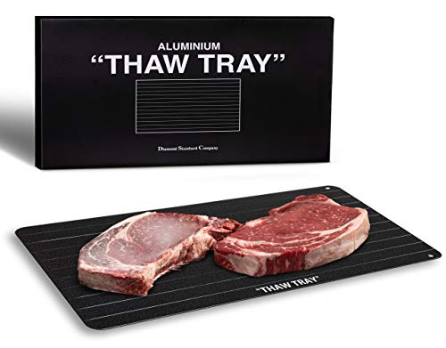 Extra Large Aluminium Thaw & Defrost Tray | All Frozen Meat & Vegetables | Natural & Eco-Friendly | Fast Heating/Defrosting Process | No Electricity | No Chemicals | No Hot Water | No Microwave