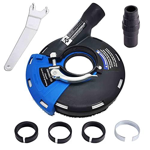 TR TOOLROCK Cubierta de extracción con cepillos para lijadora angular de 115 mm y 125 mm para trabajos de lijado, aspiración con