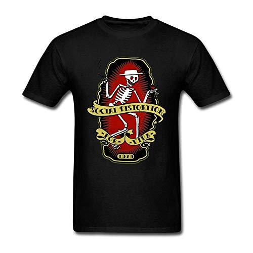 Mens Social Distortion Punk Band Black T Shirt