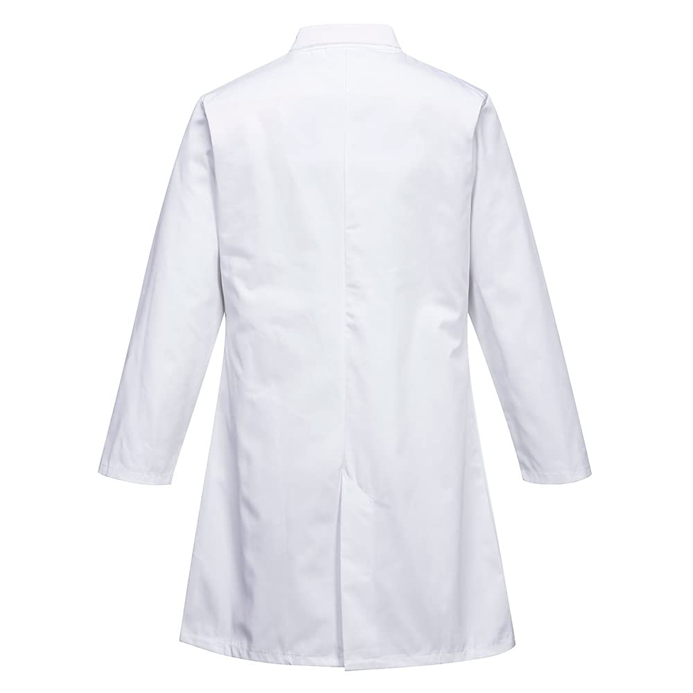 Portwest Workwear Mens Mens Food Coat One Pocket White Large
