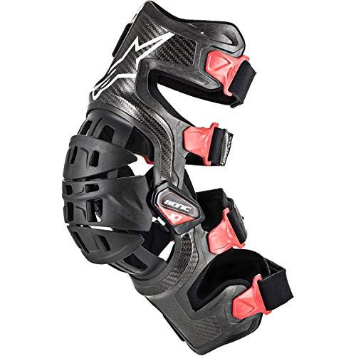 Alpinestars Protección Mx Para Rodilla Izquierda 2010 Bionic 10 Carbon Negro-Roj (L, Negro)