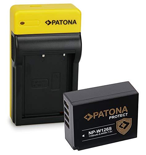 PATONA Protect Batteria NP-W126S con Slim Caricatore compatibile con Fujifilm FinePix HS50EXR HS30EXR X-T30 X-T100 XPro-3 XPro-2