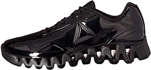 Reebok Men's Zig Pulse Running Shoe, black/black/patent, 13 M US