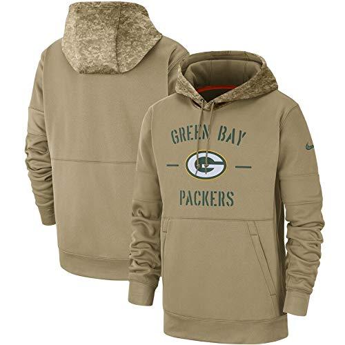 SXMY NFLLZM - Sudadera con capucha para hombre, diseño de fútbol americano americano, ideal para ver juegos de pelota, regalo para hombres (tamaño: XXX, grande, color: Green Bay Packers)