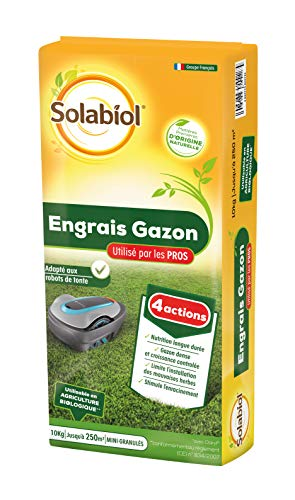 Solabiol SOGAZYPRO10 Engrais Professionnel 1 X 10 Kg | Gazon Dense et Croissance controlée, Puissant