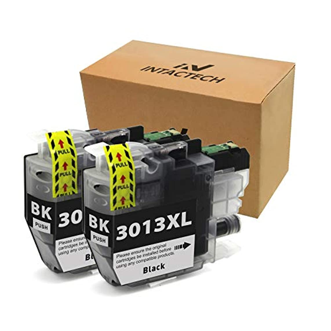 Intactech Compatible To Brother MFC-J491DW LC3013 Ink Cartridges 2 Black BK High Yield Work with Brother MFC-J491DW MFC-J497DW MFC-J690DW MFC-J895DW Inkjet Printer