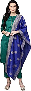 Halder jam cotton Kurta And Trousers Set With Banarasi Dupatta For Women's