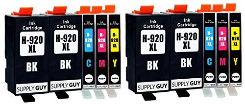 Supply Guy 10 Druckerpatronen kompatibel mit HP 920 XL 920XL HP920XL C2N92AE passend für HP OfficeJet 6000 6500 6500a 6500a Plus 7000 7500a