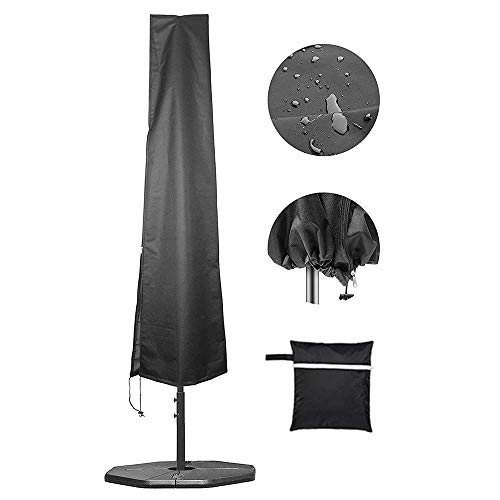SLRMKK Ombrellone da Giardino, Copertura per ombrellone , Coperture per ombrelloni, Coperture per ombrelloni da Mercato Impermeabili per Esterni con ombrelloni con Cerniera, Alta 190 cm/6,2 Pie