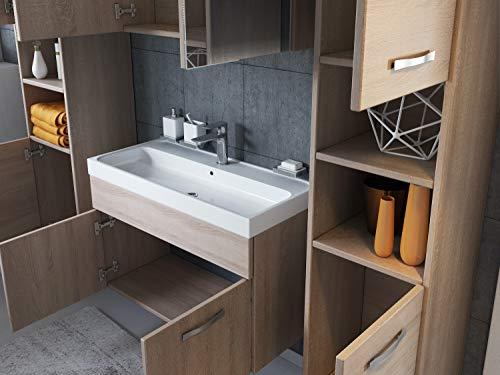 Badezimmer Badmöbel Set Paso XL LED 80 Bild 4*