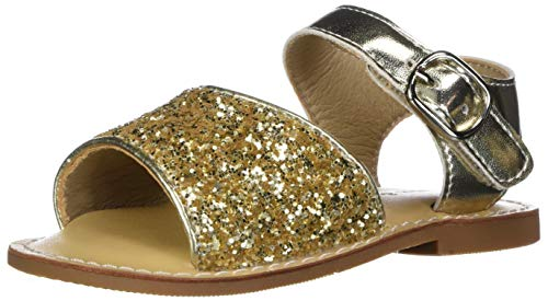 Felix & Flora Toddler Girl White Gold Sandals