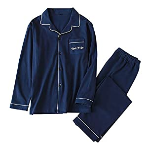 (リッチココ) パジャマ ルームウェア 夫婦 寝巻き ダブルガーゼ 綿100% 前開き ロングパンツ メンズ レディース 長袖 上下セット 部屋着 肌触り優しい 良い通気性 寝間着 春 夏 秋 冬
