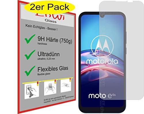 EnWi | 2X Panzer-Glas-Folie 9H Bildschirm-Schutz-Folie für Motorola Moto E6s 2020