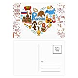 DIYthinker Gracias tarjeta postal Conjunto catedral Fórmula rusa del acordeón San Basilio de correo lateral 20Pcs 5,7 pulgadas x 3,8 pulgadas Multicolor