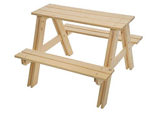 GASPO Table et bancs de pique-nique pour enfants | Bois massif | 80 x 80 x 48 x 48 cm | Assurance qualité : fabriqué en Autriche | Assemblage facile