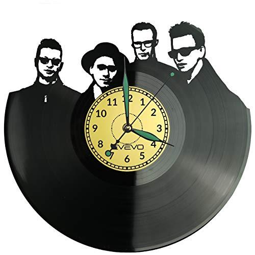 EVEVO Depeche Mode Wanduhr Vinyl Schallplatte Retro-Uhr groß Uhren Style Raum Home Dekorationen Tolles Geschenk Wanduhr Depeche Mode
