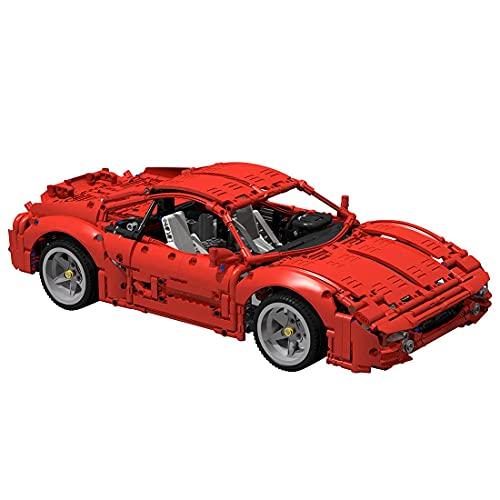 EWWEEQQ Technics Super Racing Car Building Block 1411Pcs 1/10 F355 Sports Car Speed Champions Juego de construcción avanzado Compatible con Lego 42125