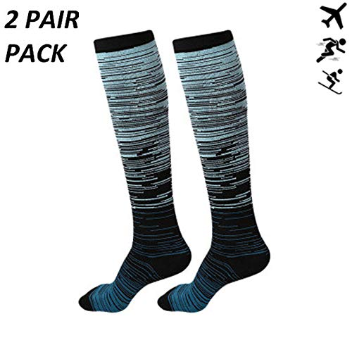 ZLYJ Sport Calcetines de compresión Mujer y Hombre para aliviar el Dolor de pies y Gemelos,Medias de compresión Hombre y Mujer Transpirables y Resistentes