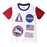Nasa By Kidsville Boy's Plain Regular fit T-Shirt (STY-18-19-004316 White 9-10 Years)