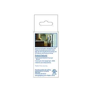 GE Lighting LED 83645 4.5-watt 350-Lumen A15 Refrigerator Freezer Bulb with Medium Base, 1-Pack