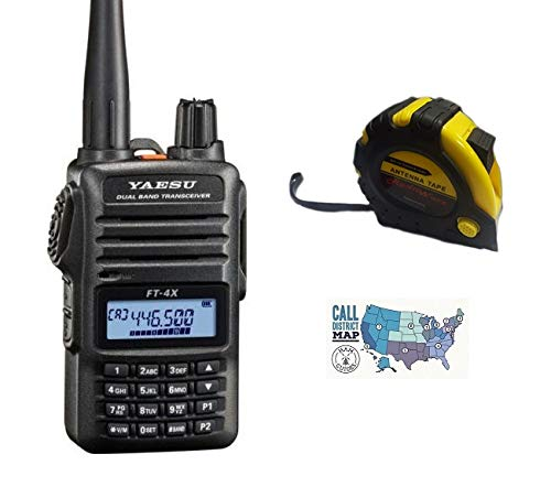 Bundle - 3 Items - Includes Yaesu FT-4XR VHF UHF Dual Band 5W FM Handheld Transceiver with The New Radiowavz Antenna Tape (2m - 30m) and HAM Guides Quick Reference Card. Buy it now for 129.95