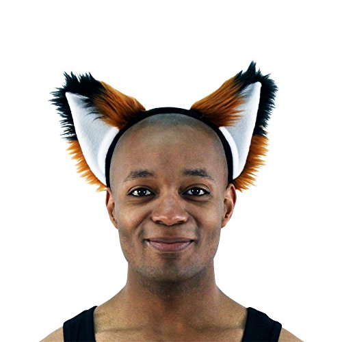 Pawstar Brown Furry Fox Ear Headband  Rust