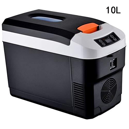 Lyy - 8866 Kühlschrank Kühl Gefrier Gefrierschrank Auto kühlschrank, tragbare Thermoelektrische Kfz-Wärme- & Kühl-Box, 10L, 12V, 220V, für Auto und Camping Autokühlschrank (Color : Black)