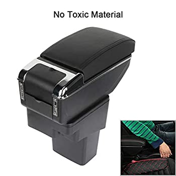 ECCPP Armrest Center Console for 2010-2015 for Nissan Juke Armrest Center Console Box W/Cover Black