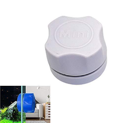 Sunfauo Acuarios Accesorios Limpiacristales Magnetico Acuario Grava Limpiador Limpiador de Vidrio magnético para peceras Aspirador de Grava para pecera White