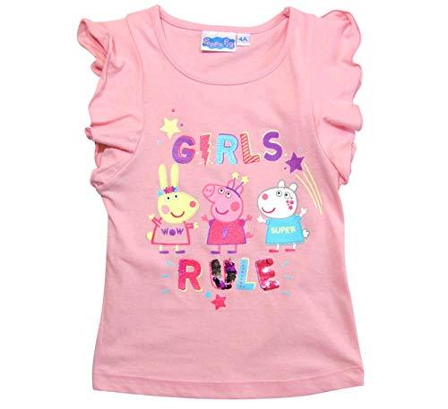 Peppa Wutz T-Shirt Mädchen mit Wendepailletten (Rosa, 110-116)