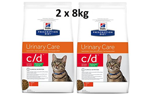 Hills Prescription Diet Feline c/d Urinary Stress Reduced Calorie: 2 x 8kg Veterinary Diets