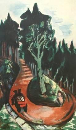 Max Beckmann Wegkehre im Schwarzwald Poster Bild Kunstdruck Lichtdruck 100,5x64cm
