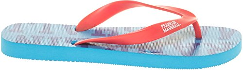 Franklin & Marshall Men's Unisex Red-Blue Flip Flops In Size 41-42 Red