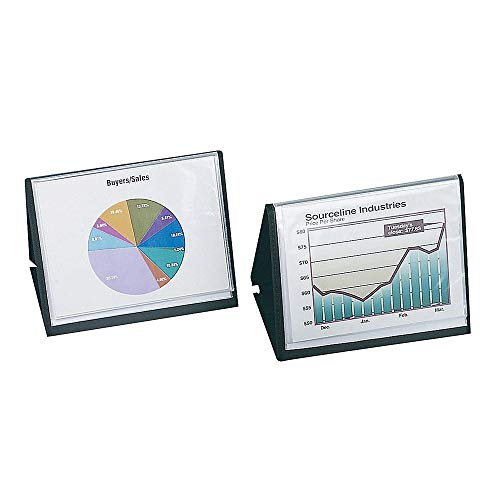 Office Depot ShowFile(TM) Easel Display Book, Horizontal Style, 8 1/2in. x 11in, Black, 52132