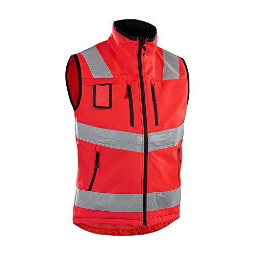 Blakläder vest High-Vis Softshell, 1 stuks, L, rood, 304925175500L, XXXL, rood