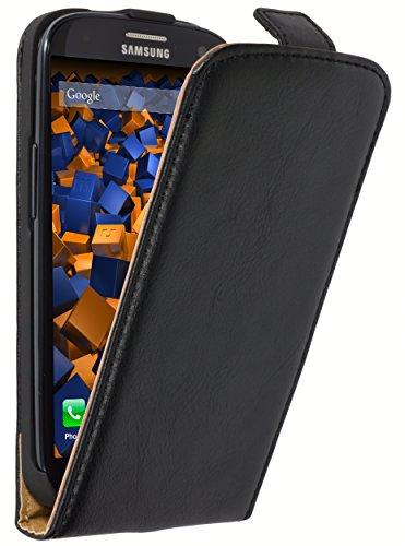 mumbi Echt Leder Flip Case kompatibel mit Samsung Galaxy S3 / S3 Neo Hülle Leder Tasche Case Wallet, schwarz
