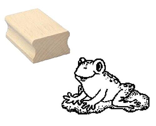 Stempel niedlicher FROSCH - Motivstempel aus Buchenholz