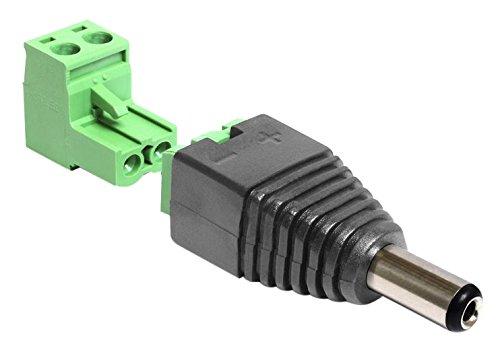 DeLOCK 65422 cavo di interfaccia e adattatore DC 2.1 x 5.5 mm 2p Nero, Verde
