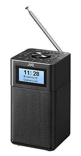 JVC RA-C80BT-B コンパクト卓上ラジオ ワイドFM対応 Bluetooth® AC/乾電池の2電源対応 ブラック