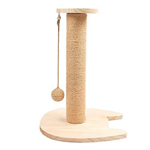HT LT Sisal Seil Scrating Paws Post Cats Scratcher, Plüsch Pole Interactive Toys Claw Scratcher Sisal Seil mit hängendem Ball für Kätzchen