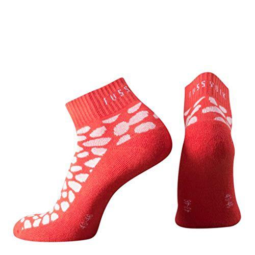 Fussvolk Quarter Socken Animalprint rot Sportstrümpfe Ankle Socks Dalmatiner, Size:39-42