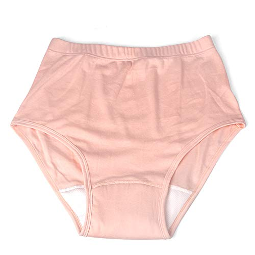 Incontinentieslips met absorberend gebied - Wasbare luiersbroek voor volwassenen voor prostaatchirurgie, menstruatie, zware flow en postpartumbloeding,Woman,L