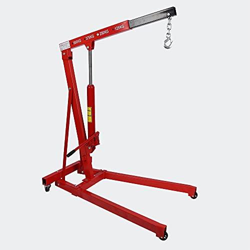 Grúa de taller hasta 500kg con brazo elevador 750-1290 mm para taller,...