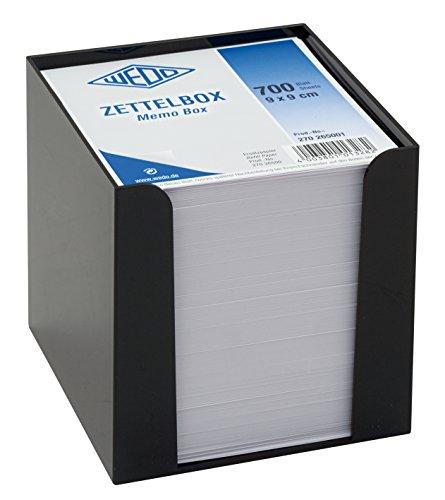 Wedo 270265001 - Porta tacos de notas, 9,5 x 9,5 cm, negro