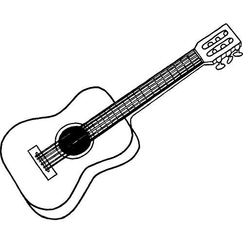 Azeeda A7 'Klassische Gitarre' Stempel (Unmontiert) (RS00002586)