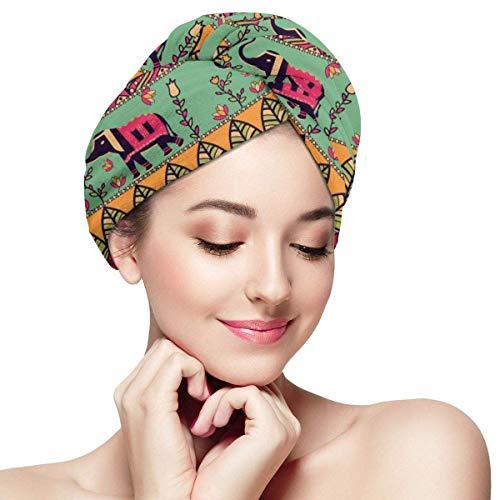 Superbe serviette de séchage de cheveux de style bohème - casquette de cheveux secs pour femmes filles