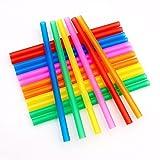 Alliwa 1200/1000/600/400 Stück für Zuhause Bar Partys, Plastik, Bunte Mehrfarbig, Flexible, Gebogen (100 Stück #01)